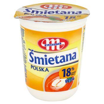 Mlekovita Śmietana Polska gęsta 18% 400 g