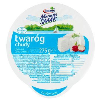 Mlekpol Mazurski Smak Twaróg chudy 275 g