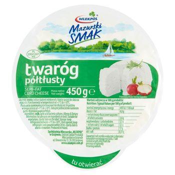 Mlekpol Mazurski Smak Twaróg półtłusty 450 g