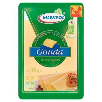 Mlekpol Ser Gouda w plastrach 150 g