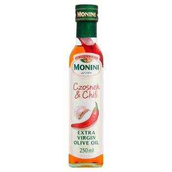 Monini Aromatyzowana oliwa z oliwek o smaku czosnku & chili 250 ml