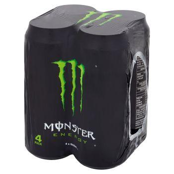 Monster Energy Gazowany napój energetyczny 4 x 500 ml