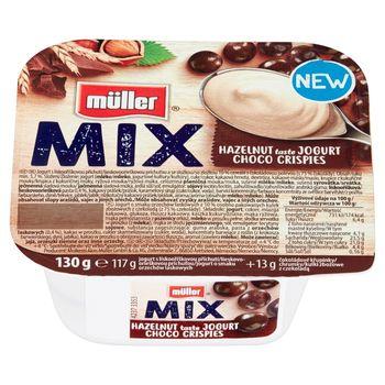 Müller Mix Jogurt o smaku orzechów laskowych z kulkami zbożowymi z czekoladą 130 g