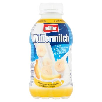 Müller Müllermilch Napój mleczny o smaku bananowym 400 g