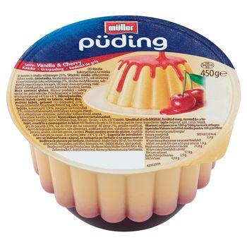 Müller Puding Kaszka kukurydziana na mleku z sosem o smaku wiśniowym 450 g