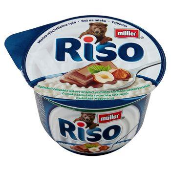 Müller Riso Ryż na mleku o smaku czekolady i orzechów laskowych 200 g