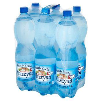 Muszyna Skarb Życia Naturalna woda mineralna wysokozmineralizowana lekko gazowana 6 x 1,5 l