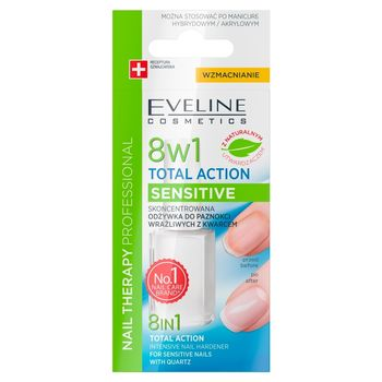 Nail Therapy Professional Odżywka do poaznokci 8w1 Total Action Sensitive