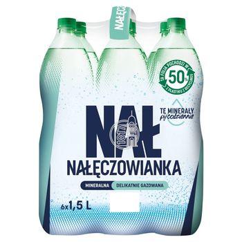 Nałęczowianka Naturalna woda mineralna delikatnie gazowana 6 x 1,5 l