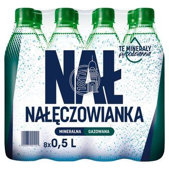 Nałęczowianka Naturalna woda mineralna gazowana 8 x 0,5 l