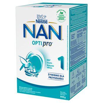 NAN OPTIPRO 1 Mleko początkowe dla niemowląt od urodzenia 800 g (2 x 400 g)
