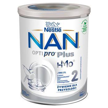 NAN OPTIPRO Plus 2 HMO Mleko następne dla niemowląt powyżej 6. miesiąca 800 g