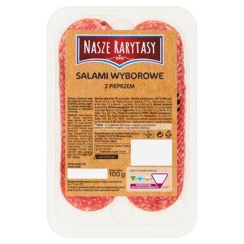 Nasze Rarytasy Salami wyborowe z pieprzem 100 g