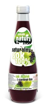 Naturalny Sok 100%  - Sok z jabłek i czarnego bzu 300 ml