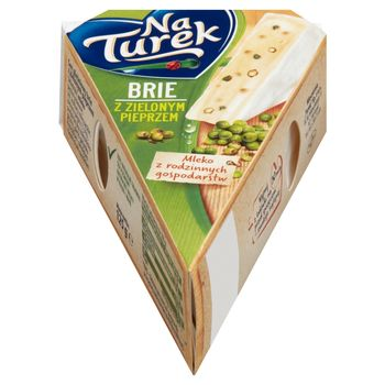 NaTurek Ser pleśniowy brie z zielonym pieprzem 125 g