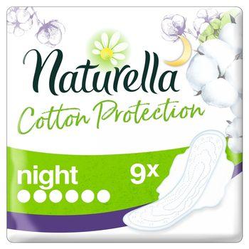Naturella Cotton Protection Ultra Night Podpaski ze skrzydełkami x9