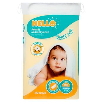 Nello Płatki kosmetyczne dla niemowląt 60 sztuk