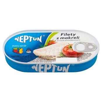 Neptun Filety z makreli w sosie pomidorowym 170 g
