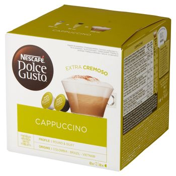 Nescafé Dolce Gusto Cappuccino Kawa w kapsułkach 186,4 g (8 x 17 g i 8 x 6,3 g)
