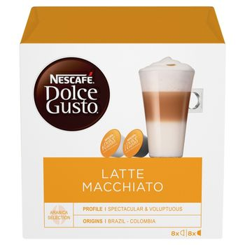 Nescafé Dolce Gusto Latte Macchiato Kawa w kapsułkach 183,2 g (8 x 17,4 g i 8 x 5,5 g)