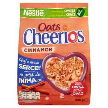 Nestlé Cheerios Oats Cinnamon Chrupiące płatki śniadaniowe 400 g