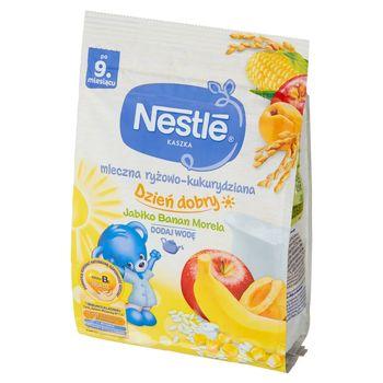 Nestlé Kaszka mleczna ryżowo-kukurydziana jabłko banan morela po 9 miesiącu 230 g