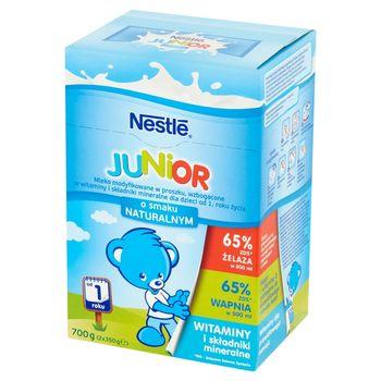Nestlé Junior Mleko modyfikowane dla dzieci od 1. roku życia o smaku naturalnym 700 g (2 x 350 g)