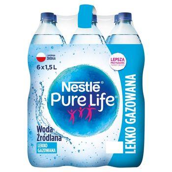 Nestlé Pure Life Woda źródlana lekko gazowana 6 x 1,5 l