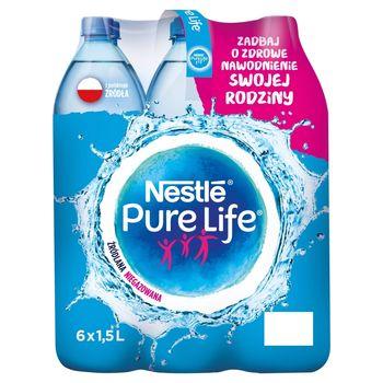 Nestlé Pure Life Woda źródlana niegazowana 6 x 1,5 l