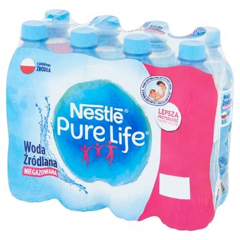 Nestlé Pure Life Woda źródlana niegazowana 8 x 0,5 l