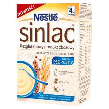 Nestlé Sinlac Bezglutenowy produkt zbożowy bez laktozy soi i cukru po 4. miesiącu 300 g