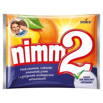 nimm2 Nadziewane cukierki pomarańczowe i cytrynowe wzbogacone witaminami 90 g
