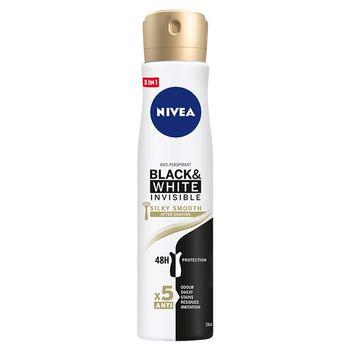 NIVEA Black&White Invisible Silky Smooth Antyperspirant w aerozolu 250 ml
