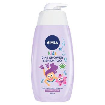 NIVEA Kids Żel do mycia ciała 2w1 o zapachu owocowych żelków 500 ml