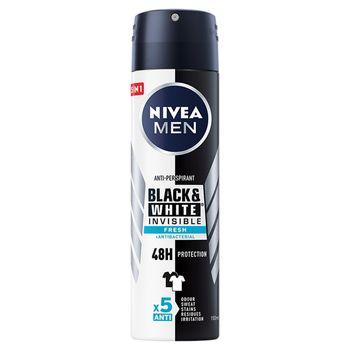 NIVEA MEN Black&White Invisible Fresh Antyperspirant w aerozolu 150 ml
