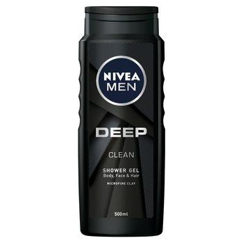 NIVEA MEN Deep Żel pod prysznic do ciała twarzy i włosów 500 ml