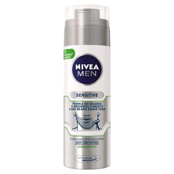 NIVEA MEN Sensitive Pianka do golenia 3-dniowego zarostu 200 ml