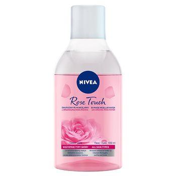 NIVEA Rose Touch Dwufazowy płyn micelarny z organiczną wodą różaną 400 ml