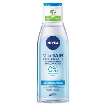 NIVEA MicellAir Skin Breathe Odświeżający płyn micelarny do cery normalnej i mieszanej 200 ml