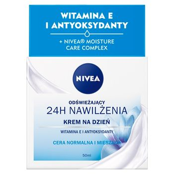 NIVEA 24 h Nawilżenia Krem na dzień odświeżający 50 ml