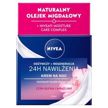 NIVEA 24 h Nawilżenia Krem na noc odżywczy + regeneracja 50 ml