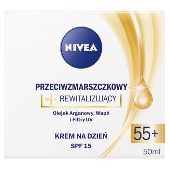 NIVEA Przeciwzmarszczkowy + rewitalizujący krem na dzień SPF 15 55+ 50 ml