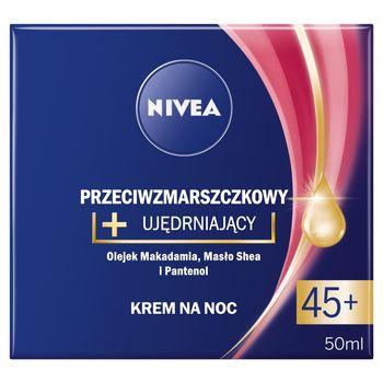 NIVEA Przeciwzmarszczkowy + rewitalizujący krem na noc 45+ 50 ml