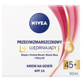 NIVEA Przeciwzmarszczkowy + ujędrniający krem na dzień SPF 15 45+ 50 ml