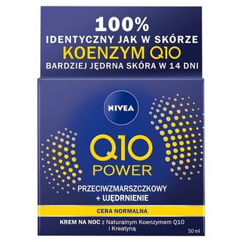 NIVEA Q10 Power Przeciwzmarszczkowy + Ujędrnienie Krem na noc 50 ml