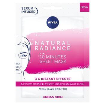 NIVEA Urban Skin Natural Radiance 10-minutowa maska w płachcie 28 ml