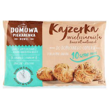 Nowel Domowa Piekarenka Kajzerka wieloziarnista 650 g (10 x 65 g)