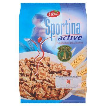 Obst Sportina Active Pełnoziarniste płatki pszenne 250 g