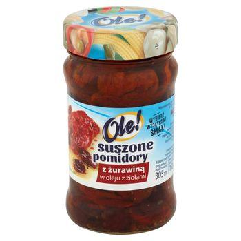 Ole! Suszone pomidory z żurawiną w oleju z ziołami 270 g