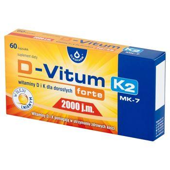 Oleofarm D-Vitum K2 Forte Suplement diety witaminy D i K 2000 j.m. 18 g (60 sztuk)